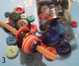 Button Snakes - with pipe cleaners.