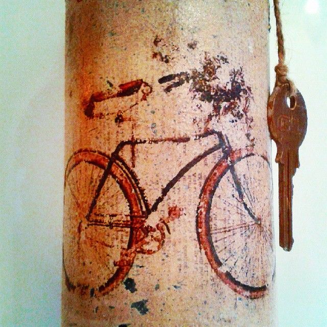 Sofia's Vintage Bottle! #decoupage #vintage #bicycle #painting #art #bottle #crafts #skg #thessaloniki #artist #key #drawing #drawings #markers #paintings #watercolor #watercolour #ink #collage #creative #sketch #sketchaday #pencil #arte #dibujo #artwork #Art2Art #color #colour #tagstagramers