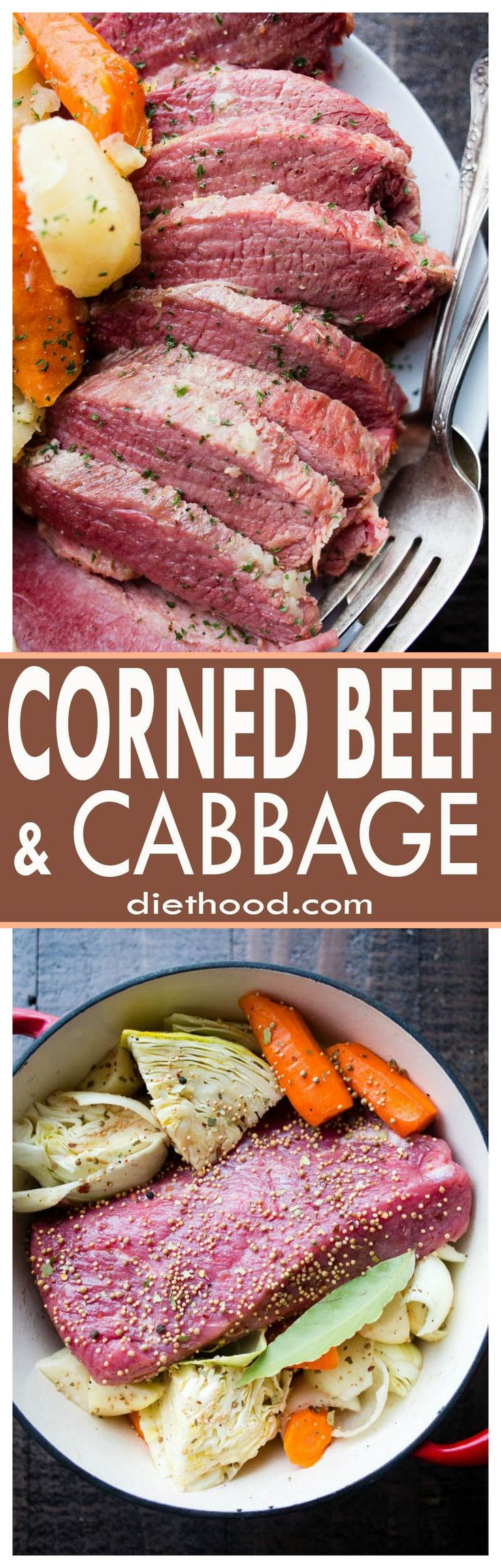 Corned Beef and Cabbage Recipe - This Corned Beef and Cabbage recipe packs all of its delicious flavors into a one pot meal that is warm, comforting, and SO flavorful!