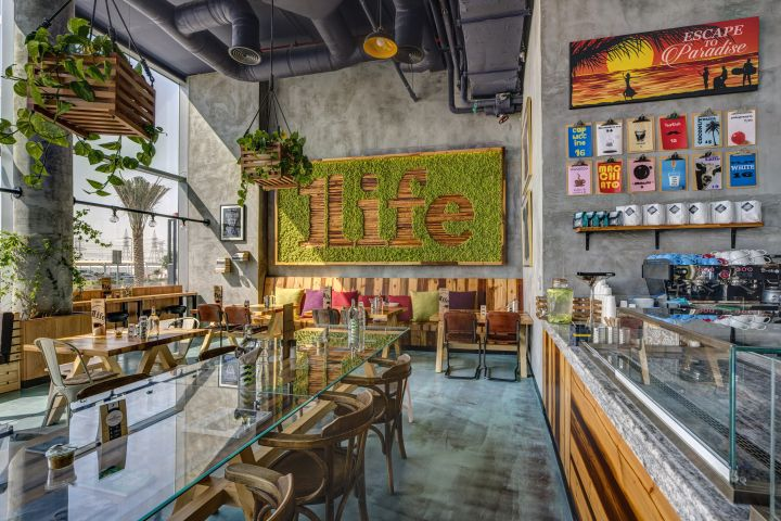 One Life Kitchen & Cafe by Studio EM Dubai  UAE