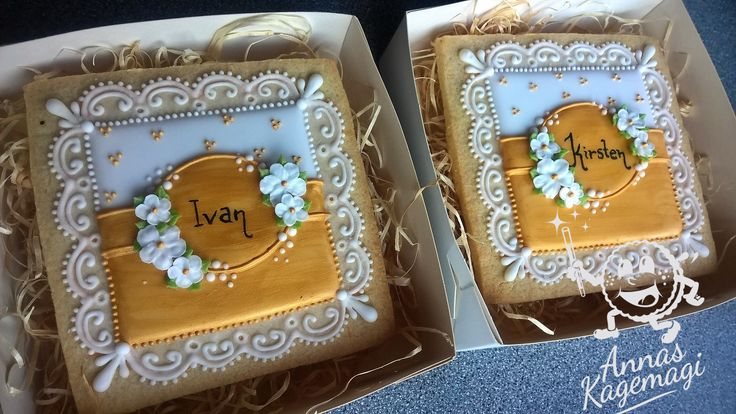 14x14 cm cookies for a couple celebrating their 50'th anniversary
