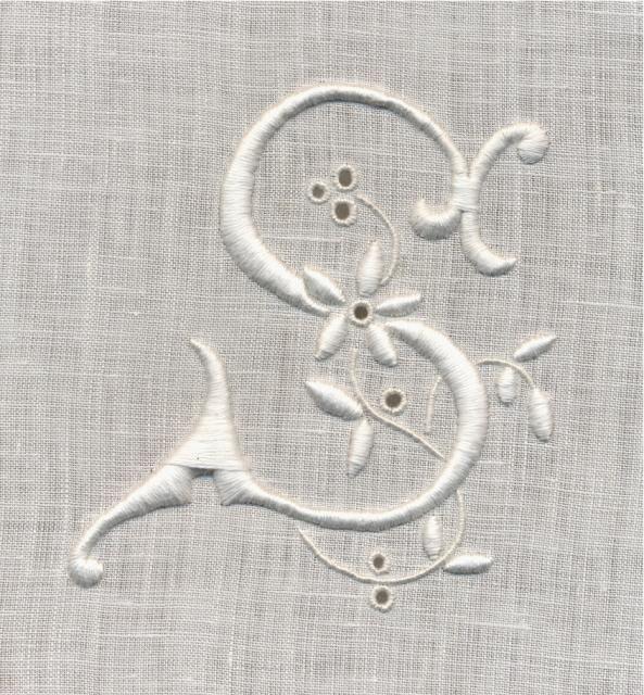 White Work Monogram