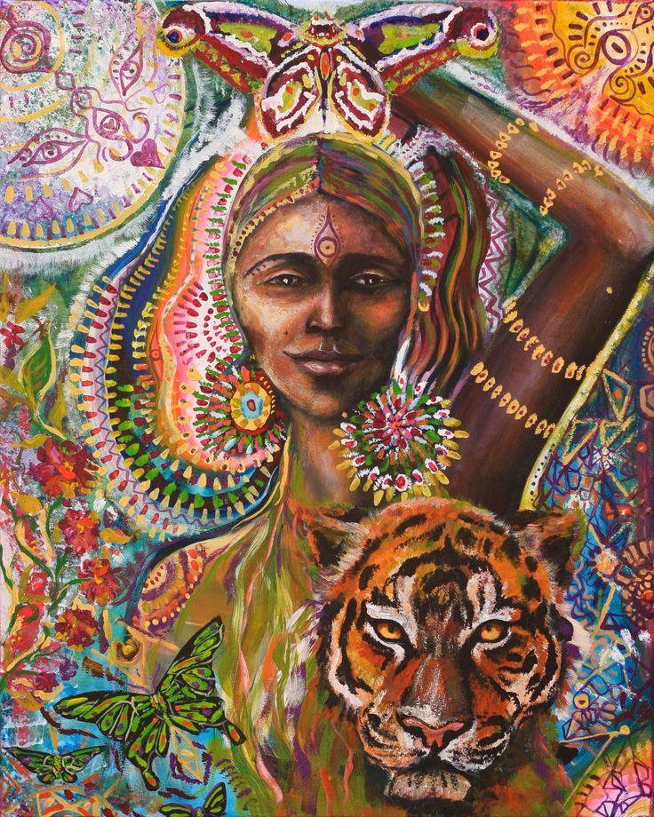 Déesse papillon tigre d'art originale de par MariposaGalactica
