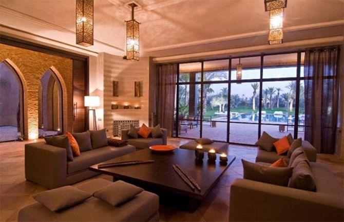 Moroccan home. Indoor - outdoor living
