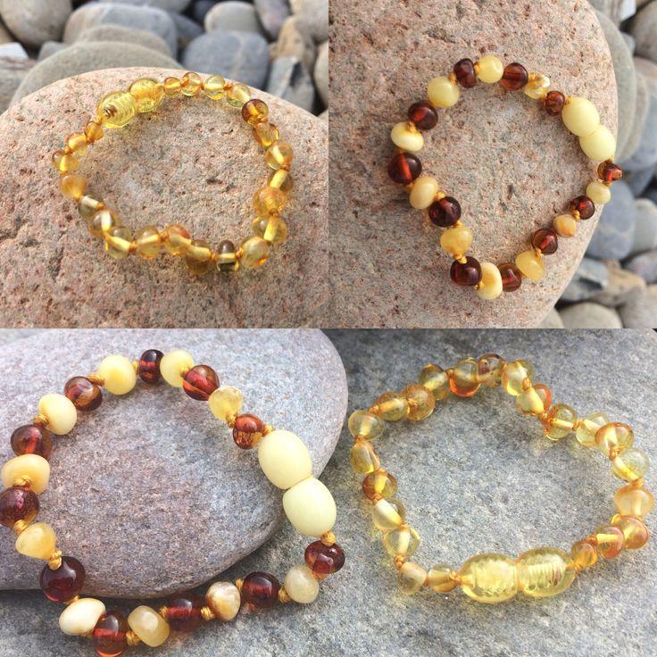 Petits bracelets d'ambre #bébé #ambre #bracelet #baltique