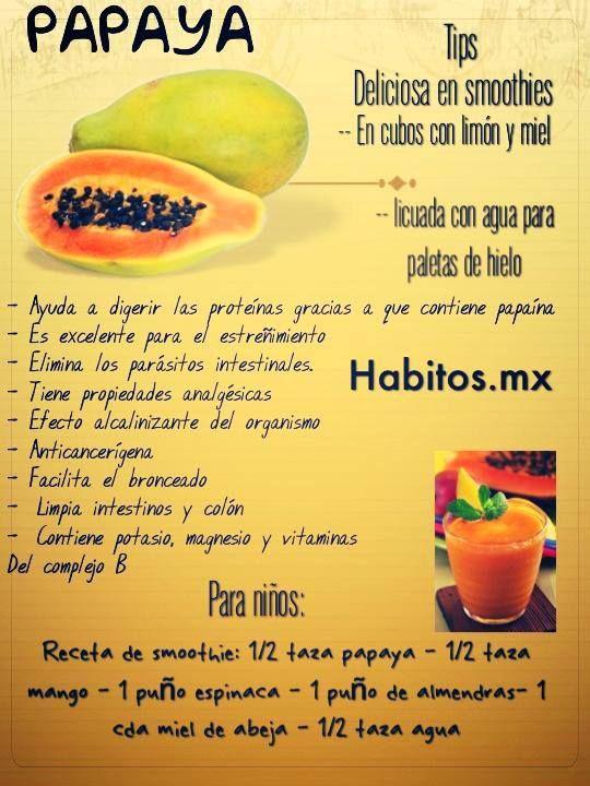 Los beneficios de la papaya! :)