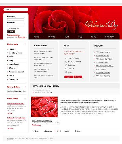 St. Valentine Joomla Templates by Delta