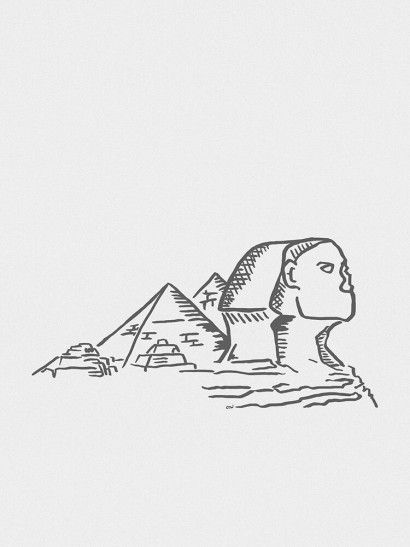 Esfinge de Gizé Minimalista - On The Wall | Crie seu quadro com essa imagem https://www.onthewall.com.br/design-by-on-the-wall/minimalista/esfinge-de-gize-minimalista #quadro #canvas #moldura #decor #egito #minimalista