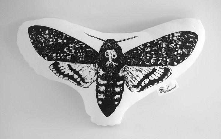 Handcrafted death`s head hawkmoth cotton plushie