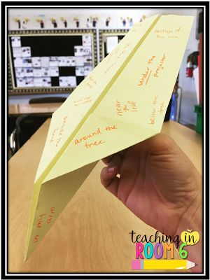 Prepositional Phrase Paper Planes and Poems...a great way to get the kids to learn prepositional phrases.