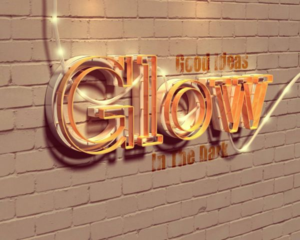 Create a Glowing 3D Text Effect With Filter Forge and Photoshop - Envato Tuts+ Design & Illustration Tutorial