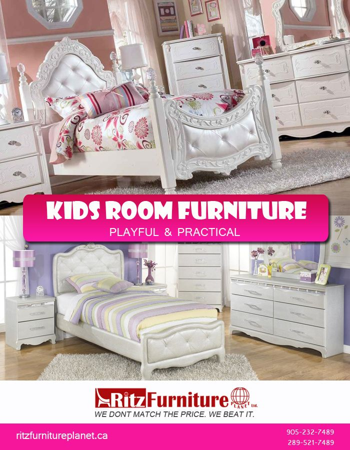 Shop high-quality #kidsfurniture of #lateststyles and colors in #Mississauga at very competitive prices. Visit our store today:  Ritz Furniture Planet Ltd 5200 Dixie Road, Mississauga, ON L4W 1E8, Canada  Telephone: 905-232-7489 / 289-521-7489 Fax: 905-232-7489 Email: info@ritzfurnitureplanet.ca  Opening Hours: Monday to Friday: 10:00 am to 8:30 pm Saturday: 10:00 am to 6:00 pm Sunday: 11:00 am to 5:00 pm  For online details visit: https://goo.gl/famZhA  #Furniture #kidsbedroomfurniture