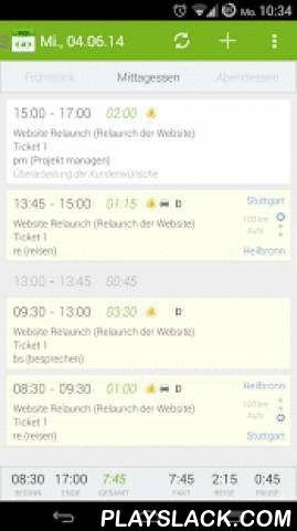 ZEP2 - Zeiterfassung  Android App - playslack.com ,  Die ZEP2-App für Android-Smartphones (ab Android 4.0).Mit dieser App können einfach und überall Arbeits- und Reisezeiten in das webbasierte System ZEP - Zeiterfassung für Projekte - erfasst werden. Die Projekt-Anlage, zahlreiche Auswertungen sowie die Reisekostenabrechnung erfolgen über ZEP (www.zep.de).Highlights- Offline-fähig: eine Online-Verbindung wird nur zum Synchronisieren benötigt- Anmeldung mit den ZEP Zugangsdaten, optional…