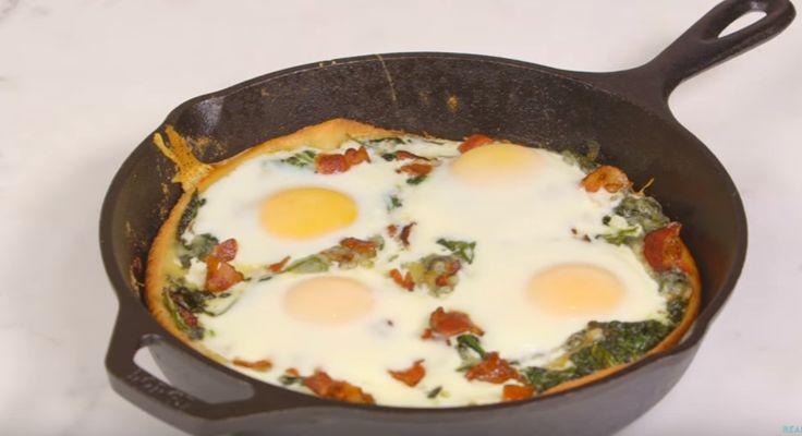 Ben je een stevige ontbijter? Dan hebben wij het perfecte ontbijt voor jou klaarstaan! Dit heb je nodig boter 4 sneetjes spek 4 eieren spinazie 3 teentjes look pizzadeeg maïsmeel geraspte kaas Aan de slag Bak de sneetjes spek Leg ze daarna even aan de kant. Bak de look samen met de spinazie Snijd de … Continued