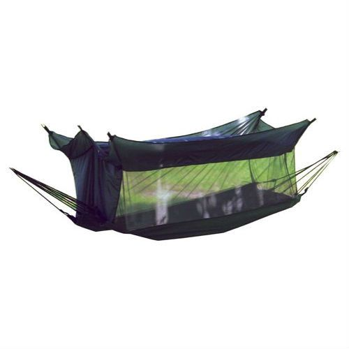 Cotton Mesh Camping Hammock with Nylon Insect Mosquito Netting