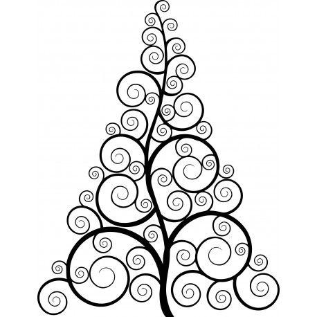 Stickers muraux, décoration, pas cher, or brillant, sapin de Noël, vitrine