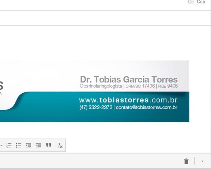 assinaturas de emails | Criação de assinatura de e-mail para Tobias Torres ...