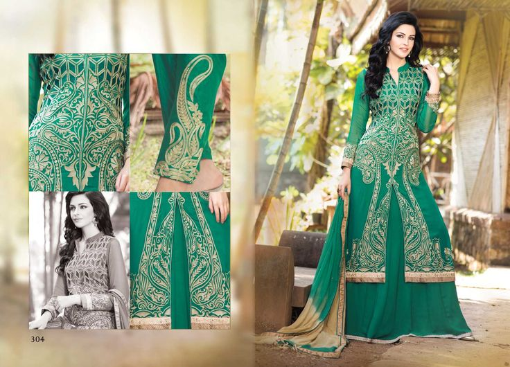 @Wedding Wear Green Color Designer Suit. Pricing Call Us or What's App on :- +91 99099 59528 Visit Our Site:=> #www.sareemall.in Email Us on:- support@sareemall.in