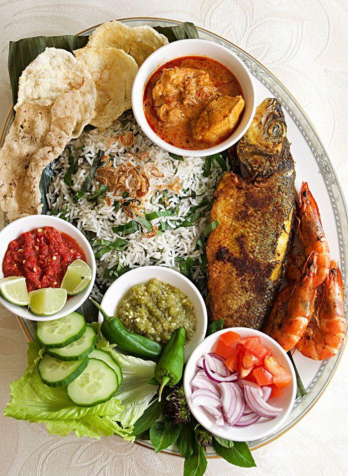 Nasi Ulam Malaysian Mixed Herb Rice Salad Resepi Nasi Ulam Recipe Malaysian Food Food Asian Recipes
