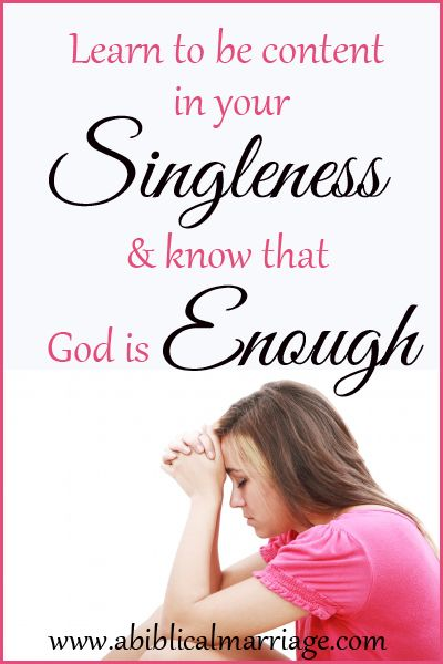 Learning to be content in your singleness is no easy task!! But an important lesson to learn is, God Is enough!! Read more: