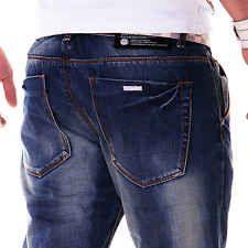 Zahida Men's Jeans Denim Pants Denim Style Blue Clubwear Vintage Destroyed New