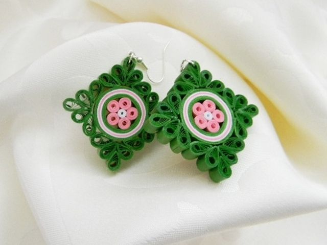 ručne robené Quilling náušnice, Quilling earrings, handmade earrings, Quilling jewelry, handmade jewelry