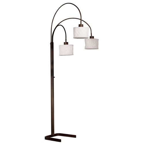 Kenroy home oil rubbed bronze finish crush 3 light arc floor lamp target