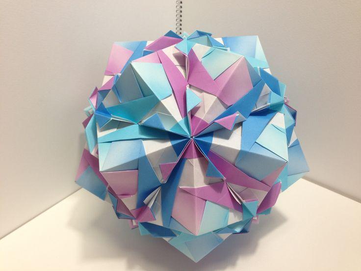 折り 折り紙 : ユニット折り紙多面体折り方 : jp.pinterest.com