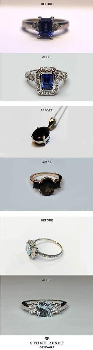 Something old and something new! It's easy to transform a loved piece into a new design you'll actually wear with Stone Reset by Gemvara.