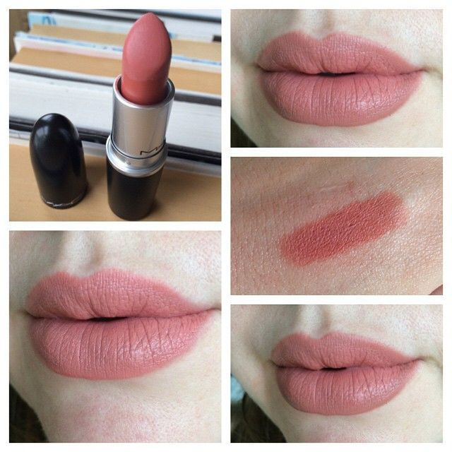 I back to MAC'd for Kinda Sexy lipstick and it's easily my new favorite. On its own in the left swatch, and lined with OCC trick (around edges only) on right. #kindasexy
