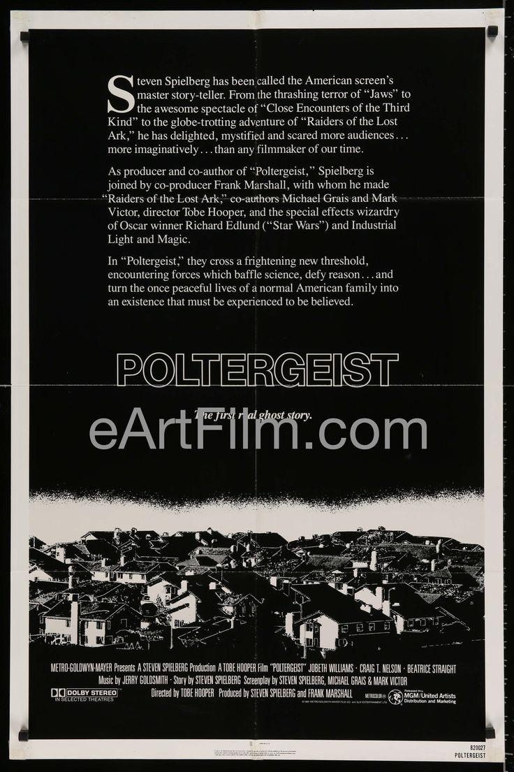 Poltergeist-Tobe Hopper-Jobeth Williams-Craig T. Nelson-1982-27x41-Horror