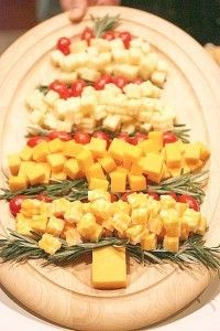 Christmas tree cheese platter -Holiday Inspired Appetizers