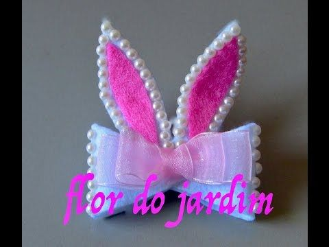 Coelho da pascoa para o cabelo -  Easter Bunny - YouTube
