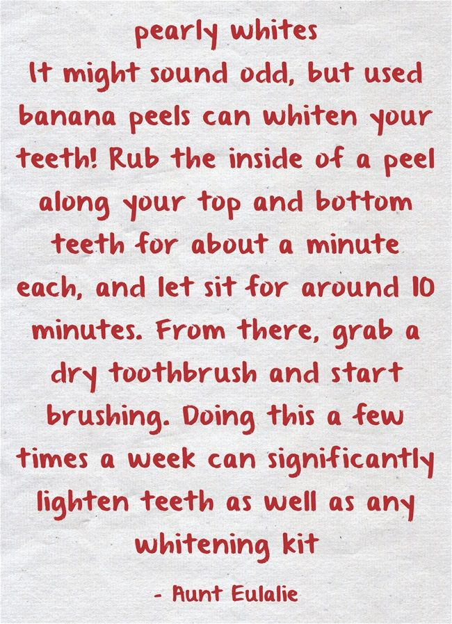 1000+ ideas about Banana Teeth Whitening on Pinterest | Life hacks ...
