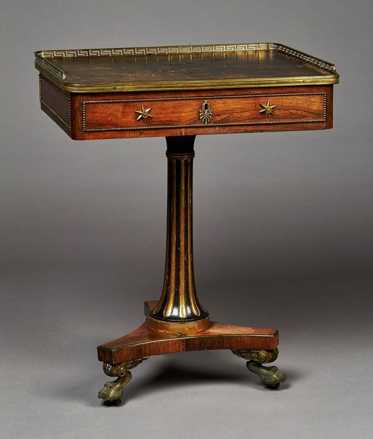 A Regency Rosewood Writing Table Attributed To Gillows Of Lancaster