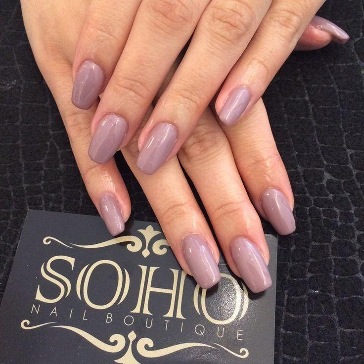 Taupe Gel Extension www.SohoNailBoutique.com #nail #nails #kitsilano #vancouvernails #sohonailboutique