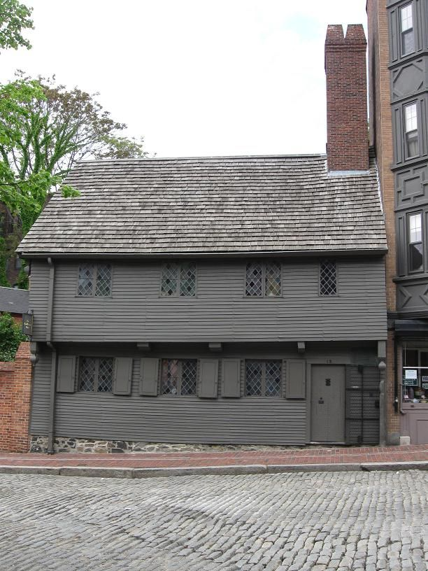 Paul Revere's House in the North End of Boston