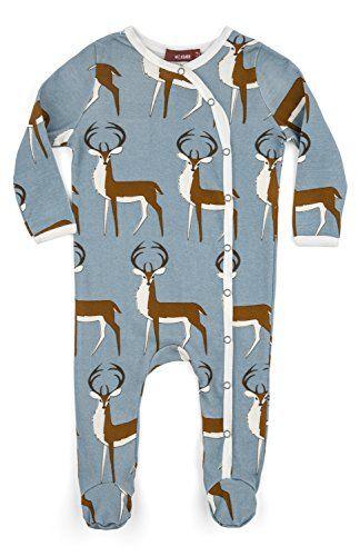 945f94185bbb MilkBarn Baby Long Sleeve Footed Romper – Buck