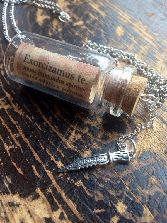 Supernatural Inspired Exorcism Scroll Vial with by TraceyGurney