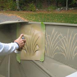 Marsh Grass Stencils   Boat Stencils - Stencilease.com