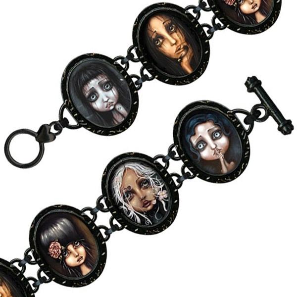 Goth girls bracelet: 1 left in stock http://www.rapunzelsretreat.co.uk/Jewellery/Classic-Hardware/Classic-Hardware-Bracelet-Angelina-Wrona-Gothic-Girls-Bracelet