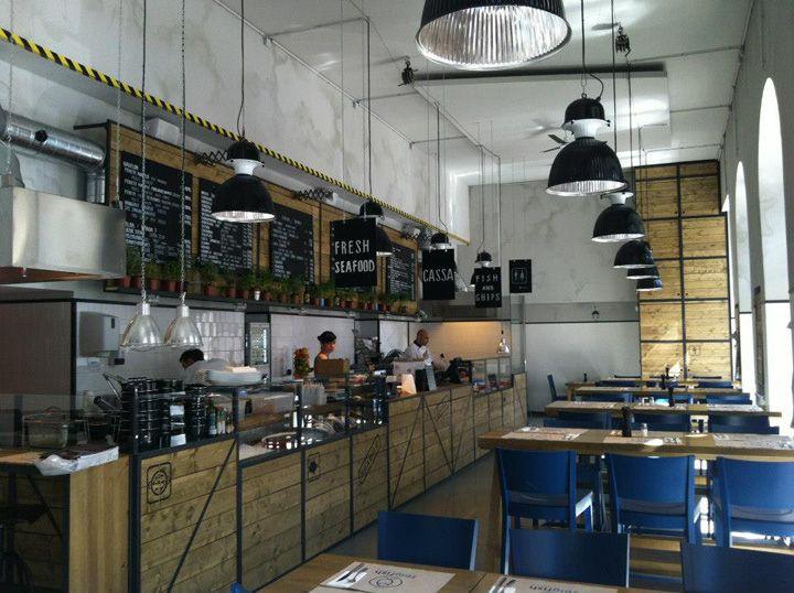 the bigfish bistro by minusplus budapest hotels and restaurants - Beaded Inset Restaurant Interior