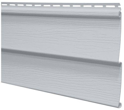 Harbor ridge double 4 vinyl siding at menards the color for Grey vinyl siding colors