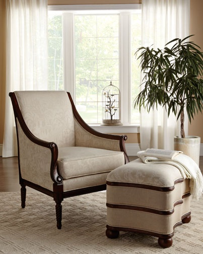 Eastwood Accent Chair Square Ottoman Bombay Canada Living Spaces By Bombay Canada