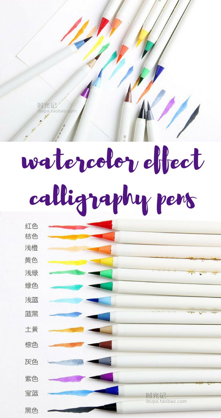 Gorgeous set of brush pens with watercolor effect colored ink. These would be perfect for fancy calligraphy on handmade wedding invitations or stationery, or even for decorating your bullet journal or practising calligraphy and lettering at home. Beautiful set, pack of 14 different colours! Sold on Etsy and shipped worldwide. #ad #pens #stationery #calligraphy #lettering #bujo #bulletjournal #watercolor #stationerylove #stationary #rainbow #etsy #affiliate