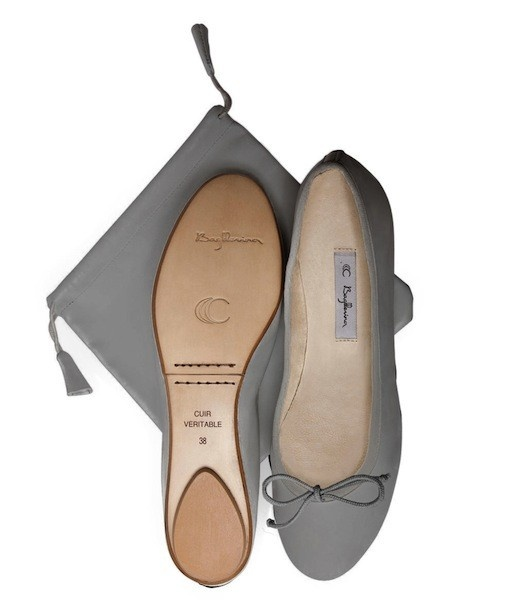 Grey Bagllerinas - folding ballet flats (France)