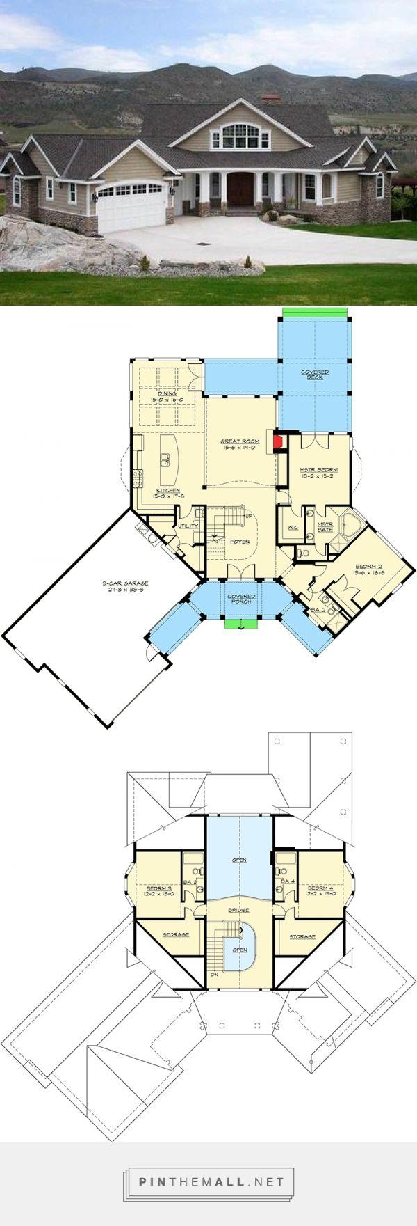 Dramatic 2815 sq ft Craftsman House Plan