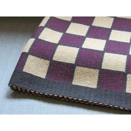 Plaid Knit Throw - Bordeaux