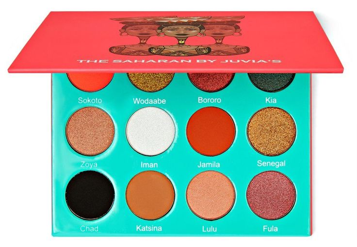 The Saharan Pallette. Juvias Place.  Amazing burnt orange colors with fun shimmers and all the essentials, like white and a midnight black.