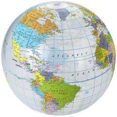 Ballon publicitaire imprimé globe terrestre express